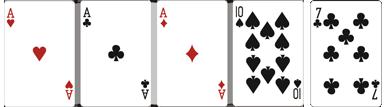 Poker brelan ou 2 paires